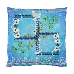 Blue Floral Double Sided Cushion Case  By Ellan   Standard Cushion Case (two Sides)   Op1r9wsft9r3   Www Artscow Com Front
