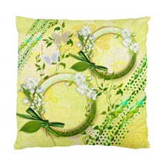 Yellow Gold Floral Double Sided Cushion Case Sample By Ellan   Standard Cushion Case (two Sides)   Olcbowgham1c   Www Artscow Com Back