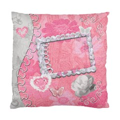 Pink Floral Double Sided Cushion Case  By Ellan   Standard Cushion Case (two Sides)   Iskzg7jj0opn   Www Artscow Com Front