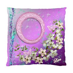Lavander Floral Double Sided Cushion Case Sample By Ellan   Standard Cushion Case (two Sides)   91obkv220orf   Www Artscow Com Front