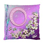 Lavander Floral Double Sided Cushion Case sample - Standard Cushion Case (Two Sides)