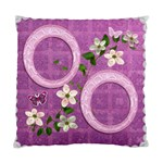 Lavander Floral Double Sided Cushion Case - Standard Cushion Case (Two Sides)