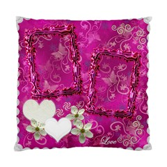 Wedding Hot Pink Swirl Double Sided Cushion Case  By Ellan   Standard Cushion Case (two Sides)   9jypx5341uhc   Www Artscow Com Back