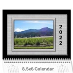 Framed in Silver 2017 (any Year) Calendar 8.5x6 - Wall Calendar 8.5  x 6