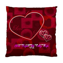 You Light Up My Life Pink Double Sided Cushion Case By Ellan   Standard Cushion Case (two Sides)   Q6d5n3nl46ds   Www Artscow Com Front