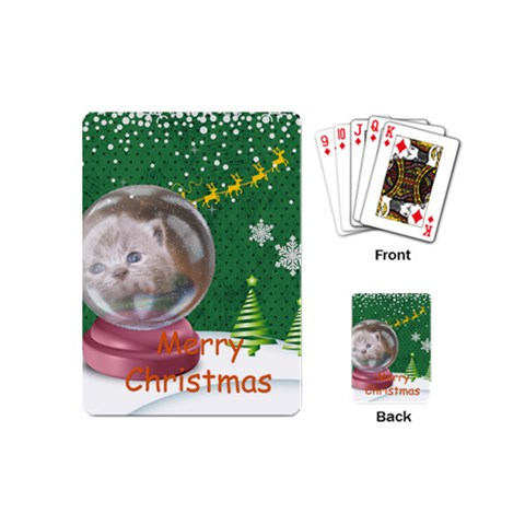 Christmas By Joely   Playing Cards (mini)   Wcy3c1tas4mn   Www Artscow Com Back