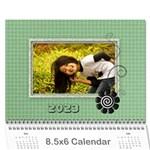 2015 Green - 8.5x6 wall calendar - Wall Calendar 8.5  x 6
