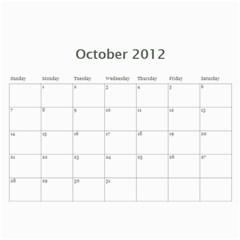2012 Calendar By Hannah   Wall Calendar 11  X 8 5  (12 Months)   P3to8dmr9geo   Www Artscow Com Oct 2012