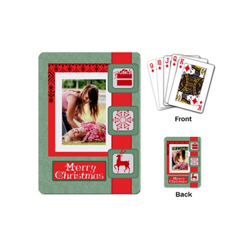 Christmas By Joely   Playing Cards (mini)   98r6a29dm2i6   Www Artscow Com Back