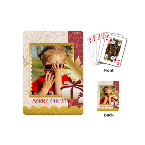 Christmas By Joely   Playing Cards (mini)   Gnz3t7rq1bqi   Www Artscow Com Back