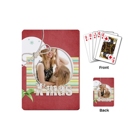 Christmas By Joely   Playing Cards (mini)   1k4d3extujfz   Www Artscow Com Back