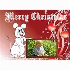 Mouse Frame Christmas Card By Kim Blair   5  X 7  Photo Cards   Do7u6ecrbowf   Www Artscow Com 7 x5 Photo Card - 7
