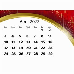 2016 Mini Calendar With Class And Large Numbers By Deborah   Wall Calendar 8 5  X 6    Ur97q45pj0ko   Www Artscow Com Apr 2016