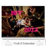 BFF Calendar 2012 - Wall Calendar 11  x 8.5  (12-Months)