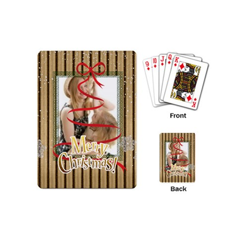 Christmas By Joely   Playing Cards (mini)   Zcdh22x14g7z   Www Artscow Com Back
