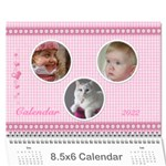 Happy Pink 2017  (any Year) Calindar 8.5x6 - Wall Calendar 8.5  x 6