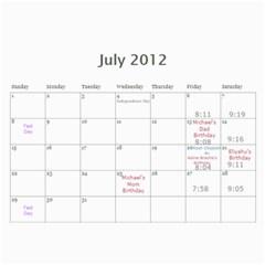 Cal 2012 By Shoshana   Wall Calendar 11  X 8 5  (12 Months)   Rhy1g4nmiy95   Www Artscow Com Jul 2012