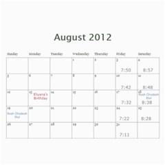 Cal 2012 By Shoshana   Wall Calendar 11  X 8 5  (12 Months)   Rhy1g4nmiy95   Www Artscow Com Aug 2012