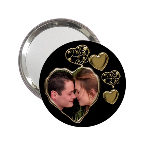 All Heart Black And Gold Handbag Mirror By Deborah   2 25  Handbag Mirror   N5le6ixvwxcq   Www Artscow Com Front
