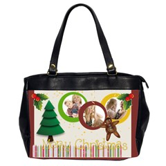 Christmas By Joely   Oversize Office Handbag (2 Sides)   54mkde0vuzlq   Www Artscow Com Front