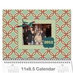 airplane calander - Wall Calendar 11  x 8.5  (12-Months)