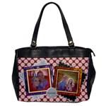 Hapiness - Pink Polka Dot Vintage Oversized Handbag - Oversize Office Handbag