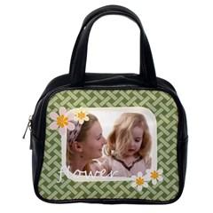 Flower By Joely   Classic Handbag (two Sides)   5y763u2u1fyd   Www Artscow Com Back