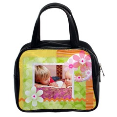 Flower By Joely   Classic Handbag (two Sides)   J0gdg50u78rz   Www Artscow Com Front