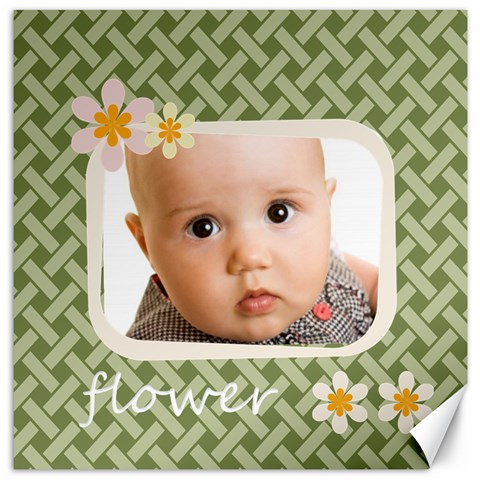 Flower  By Joely   Canvas 16  X 16    17ux1mf1v8nq   Www Artscow Com 16 x16 Canvas - 1
