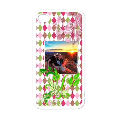Fancy Floral  By Digitalkeepsakes   Apple Iphone 4 Case (white)   Ktqwml8sba2y   Www Artscow Com Front