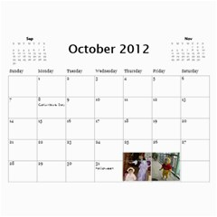 2012 Calendar By Trinh   Wall Calendar 11  X 8 5  (12 Months)   A485ri1x2kxh   Www Artscow Com Oct 2012