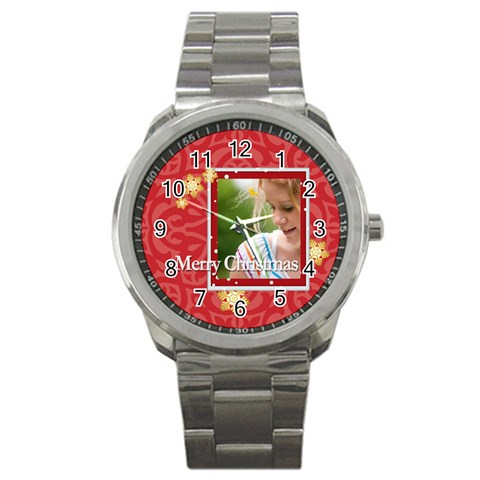 Christmas By Joely   Sport Metal Watch   Wnjufvmpvmyv   Www Artscow Com Front