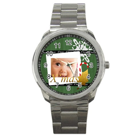 Christmas By Joely   Sport Metal Watch   Kfqc2yz2lrbc   Www Artscow Com Front