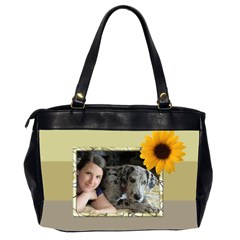 Sunflower Delight(2 Sided) Oversized Bag By Deborah   Oversize Office Handbag (2 Sides)   Nurwwco17sw2   Www Artscow Com Back