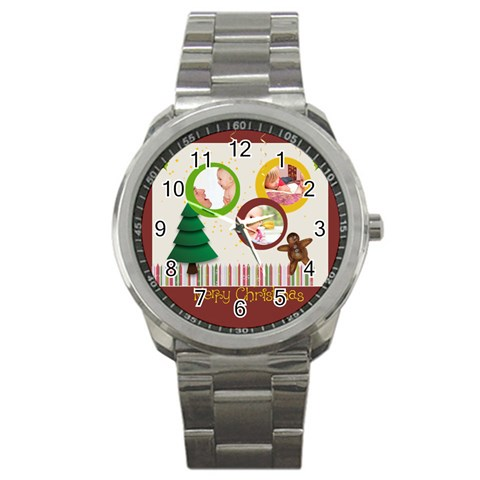 Christmas By Joely   Sport Metal Watch   Wf8pxxn19h00   Www Artscow Com Front