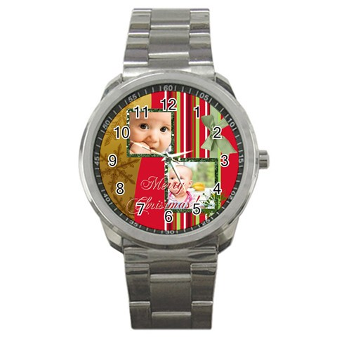 Christmas By Joely   Sport Metal Watch   Yfkt3staxeic   Www Artscow Com Front