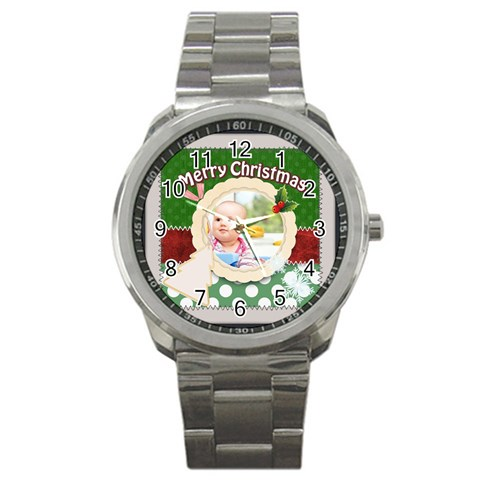 Christmas By Joely   Sport Metal Watch   5ri1oaebe75a   Www Artscow Com Front
