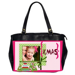 Christmas By Joely   Oversize Office Handbag (2 Sides)   Mv6ilzwh07k1   Www Artscow Com Front
