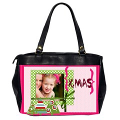 Christmas By Joely   Oversize Office Handbag (2 Sides)   Mv6ilzwh07k1   Www Artscow Com Back