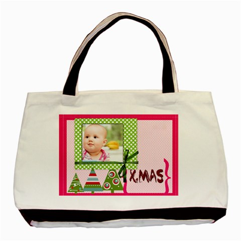 Christmas By Joely   Basic Tote Bag   Mrunbhq5zhuv   Www Artscow Com Front