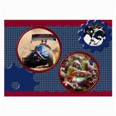 Navy And Red Large Glass Cloth (2 Sided) By Deborah   Large Glasses Cloth (2 Sides)   81ybqy3k0b9p   Www Artscow Com Front