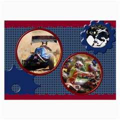 Navy And Red Large Glass Cloth (2 Sided) By Deborah   Large Glasses Cloth (2 Sides)   81ybqy3k0b9p   Www Artscow Com Back