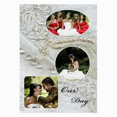 Our Wedding Large Glass Cloth (2 Sided) By Deborah   Large Glasses Cloth (2 Sides)   Ift7k38qcs27   Www Artscow Com Front