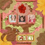Autumn Family - ScrapBook Page 12  x 12