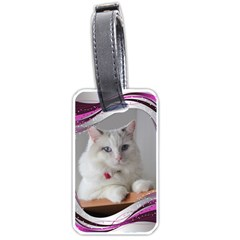 Pink Wave Luggage Tag (2 Sided) By Deborah   Luggage Tag (two Sides)   C7x1ry340nfj   Www Artscow Com Front