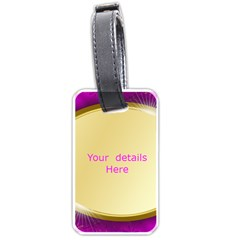 Pink And Gold Luggage Tag ( 2 Sided) By Deborah   Luggage Tag (two Sides)   Bfkwrgn6yqxo   Www Artscow Com Back