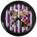 The Silver Family Clock - Wall Clock (Black)