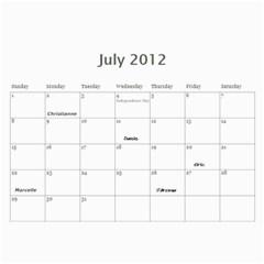 Dads Calender By Lise   Wall Calendar 11  X 8 5  (12 Months)   Wc6xf6iclwlp   Www Artscow Com Jul 2012