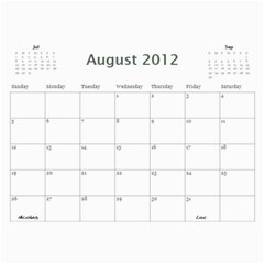 Dads Calender By Lise   Wall Calendar 11  X 8 5  (12 Months)   Wc6xf6iclwlp   Www Artscow Com Aug 2012