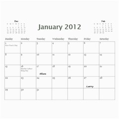 Dads Calender By Lise   Wall Calendar 11  X 8 5  (12 Months)   Wc6xf6iclwlp   Www Artscow Com Jan 2012